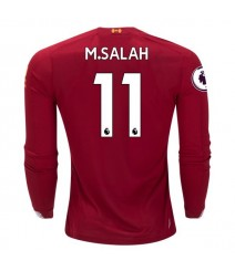 Mohamed Salah Liverpool 19/20 Long Sleeve Home Jersey by New Balance