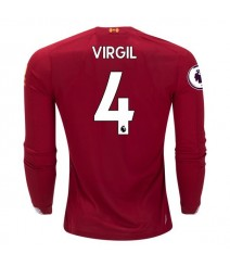 Virgil van Dijk Liverpool 19/20 Long Sleeve Home Jersey by New Balance