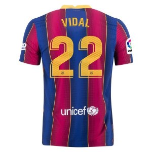 Arturo Vidal Barcelona 20/21 Authentic Home Jersey by Nike