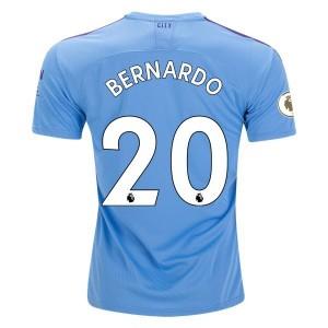 Bernardo Manchester City 19/20 Authentic Home Jersey by PUMA