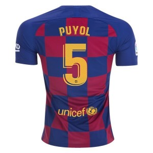 Carlos Puyol Barcelona 19/20 Home Jersey by Nike