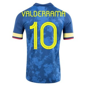 Carlos Valderrama Colombia 2020 Authentic Away Jersey by adidas