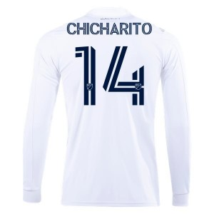 Chicharito Hernández LA Galaxy 2020 Long Sleeve Home Jersey by adidas