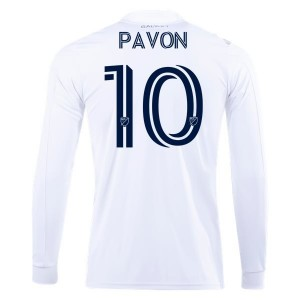 Cristian Pavón LA Galaxy 2020 Long Sleeve Home Jersey by adidas