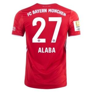 David Alaba Bayern Munich 2020/21 Authentic Home Jersey by adidas