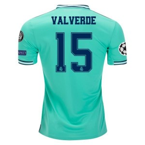 Federico Valverde Real Madrid 19/20 UCL Third Jersey by adidas