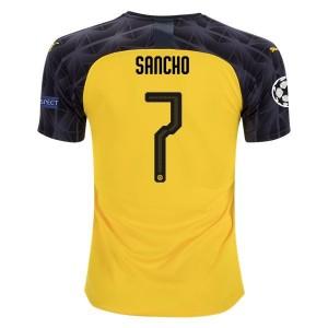Jadon Sancho Borussia Dortmund 19/20 UCL Cup/Third Jersey by PUMA