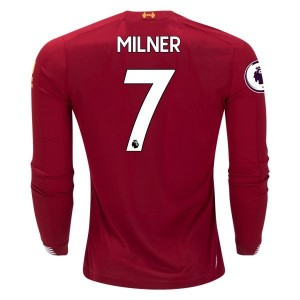 James Milner Liverpool 19/20 Long Sleeve Home Jersey by New Balance