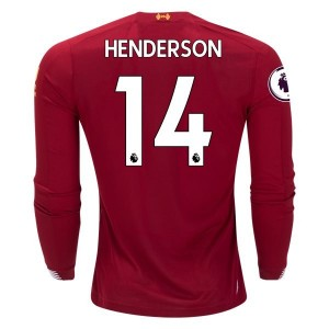 Jordan Henderson Liverpool 19/20 Long Sleeve Home Jersey by New Balance