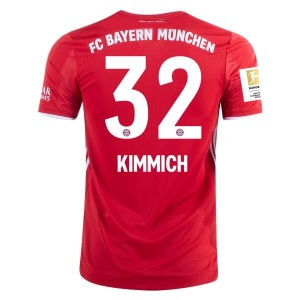Joshua Kimmich Bayern Munich 2020/21 Authentic Home Jersey by adidas