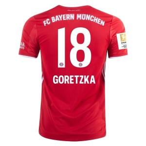 Leon Goretzka Bayern Munich 2020/21 Authentic Home Jersey by adidas