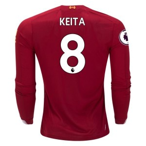 Naby Keita Liverpool 19/20 Long Sleeve Home Jersey by New Balance