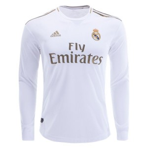 Real Madrid 19/20 Authentic Long Sleeve Home Jersey by adidas
