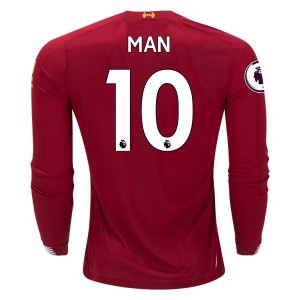Sadio Mane Liverpool 19/20 Long Sleeve Home Jersey by New Balance