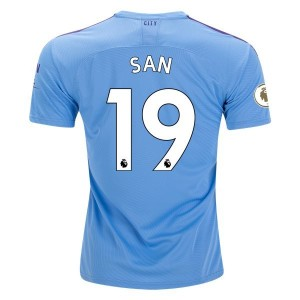 Sane Manchester City 19/20 Authentic Home Jersey by PUMA