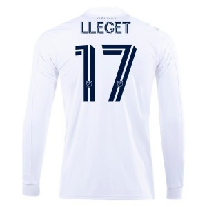 Sebastian Lletget LA Galaxy 2020 Long Sleeve Home Jersey by adidas