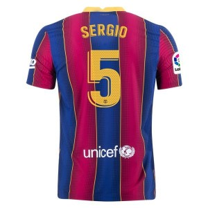 Sergio Busquets Barcelona 20/21 Authentic Home Jersey by Nike