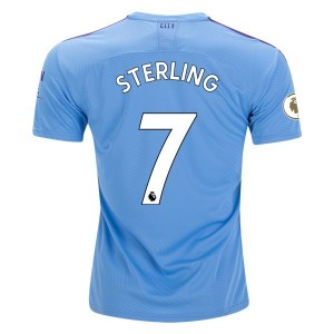 Sterling Manchester City 19/20 Authentic Home Jersey by PUMA