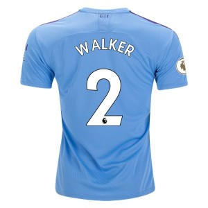 Walker Manchester City 19/20 Authentic Home Jersey by PUMA